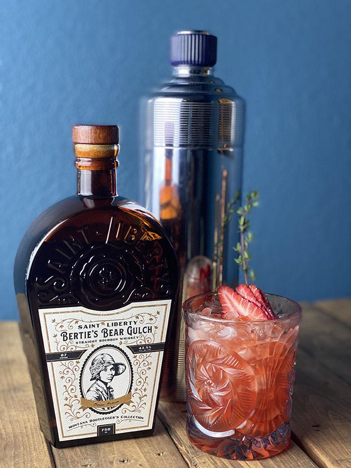 Saint Liberty Bourbon Cocktail Berry Smash